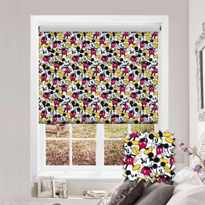 Premium Roller in Disney Mickey Mouse Patterned Fabric - Just Blinds